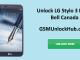 Unlock LG Stylo 3 Plus Bell Canada